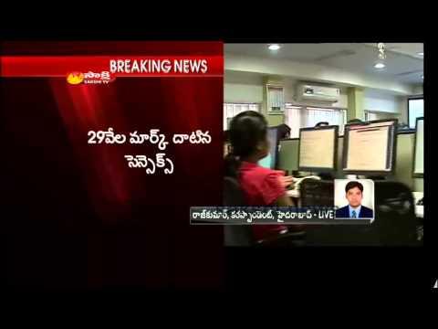 Sensex breaches 29000 for first time;metals,pharma lead
