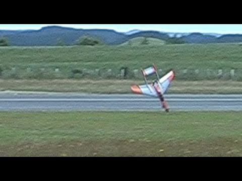 Near disaster for a ducted fan RC jet on its maiden flight