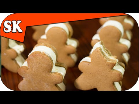 GINGERBREAD MAN ICE CREAM SANDWICH - All Home Made