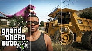 Grand Theft Auto V | EASTER EGG HUNTING | TONKA TRUCK,SEA MONSTER & BARNEY