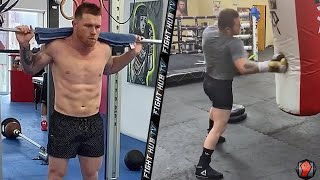 BEAST AT HOME! CANELO ALVAREZ IN PHENOMENAL SHAPE DURING TRAINING AS HE STAYS READY FOR FUTURE FIGHT