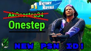 PSN Allows ID Changes! I CHANGED MY NAME! - VICTORY ROYALE STYLE!