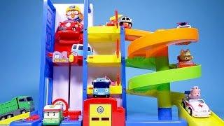 뽀로로 주차장 Pororo 타요 로보카폴리 장난감 Pororo Parking Tower Toy Robocar Poli Tayo the little bus
