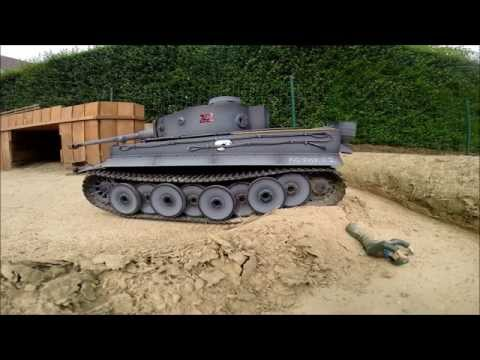 RC Tank Tigre 1 Torro Full Metal Battle 1/16 Scale 2015,RC VHX 22,Part 2