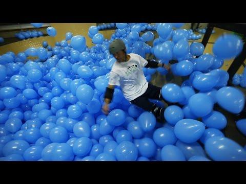 Skateboarding in 5001 Balloons!