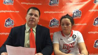 NJIT WBB Post Game Interview vs St. Francis Brooklyn