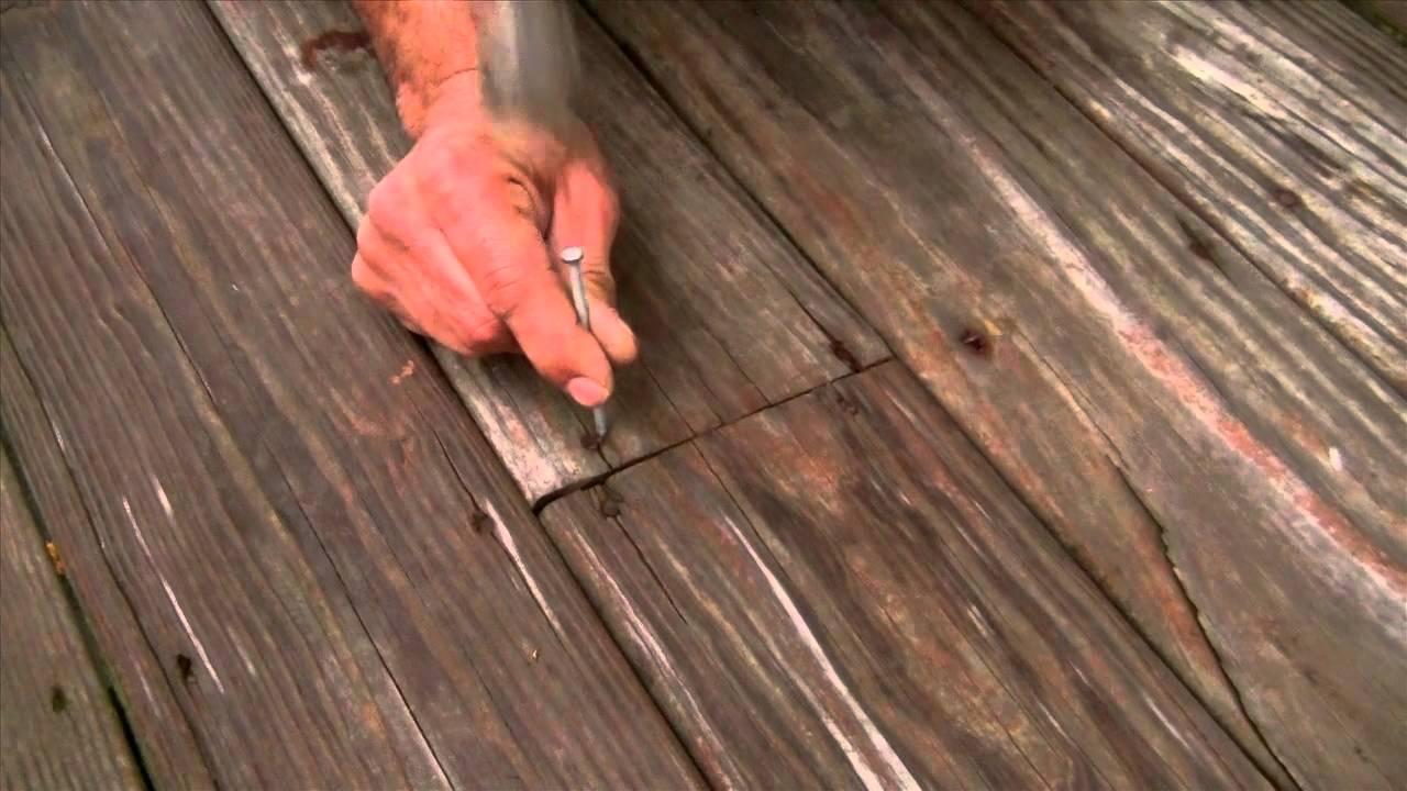 save your deck from loose nails screws preptalks youtube. Black Bedroom Furniture Sets. Home Design Ideas