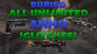 Black Ops 2 Zombie Glitches: Buried Glitches-All Unlimited Ammo Glitches (Chalk weapons,B23R,ECT)