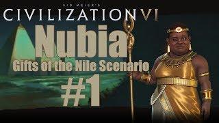 Civ 6 Scenario - Gifts of the Nile - Nubia (Deity) - Episode 1