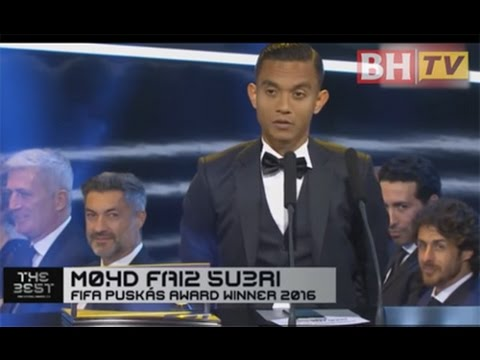 Mohd Faiz Subri rangkul Anugerah Puskas FIFA 2016