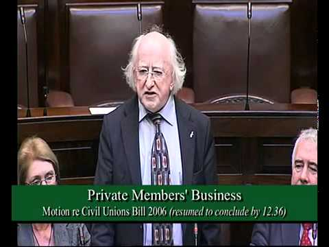 Civil Unions Bill - Michael D. Higgins.mp4