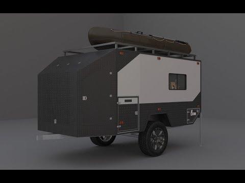 Внедорожный прицеп для охоты и рыбалки. Offroad trailer for hunting & fishing