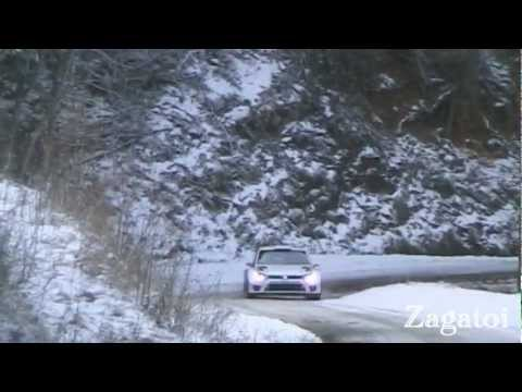 Jari-Matti Latvala Tests Polo WRC Monte Carlo