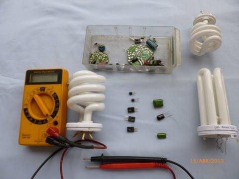 Tutorial de Reparacion de lamparas ahorradoras