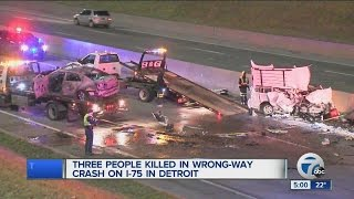 Three killed in wrong way crash on I-75