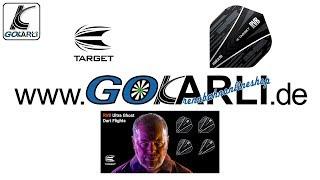 Target RVB Raymond van Barneveld Ultra Ghost Dart Flights verschiedene Flightformen