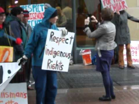 Talisman Energy May 1 2012 - Achuar Supporters outside doors