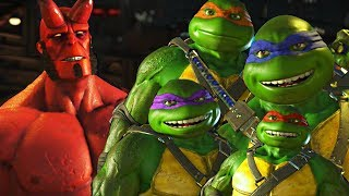 Injustice 2 - Ninja Turtles vs Hellboy All Intro Dialogue