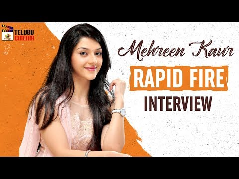 Mehreen Kaur Exclusive RAPID FIRE Interview | Tollywood Celebrity Interviews | Mango Telugu Cinema