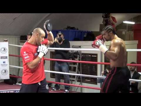 DAVID HAYE OFFICIAL MEDIA WORK OUT AHEAD OF FIGHT WITH TYSON FURY