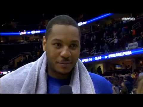 Postgame: Carmelo Anthony | Knicks Vs Cavaliers | April 12, 2013