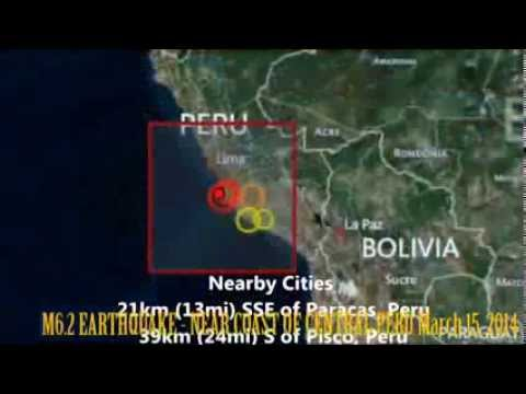 M 6.4 EARTHQUAKE - NEAR COAST OF CENTRAL PERU March 15, 2014