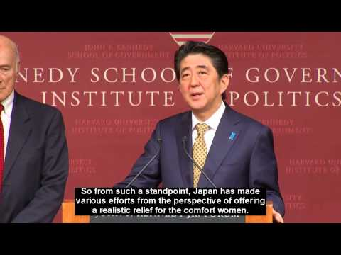 Joseph Choi's Righteous Question to Shinzo Abe - Institute of Politics, Harvard