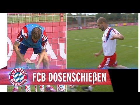 Müller y Guardiola se divierten entrenando