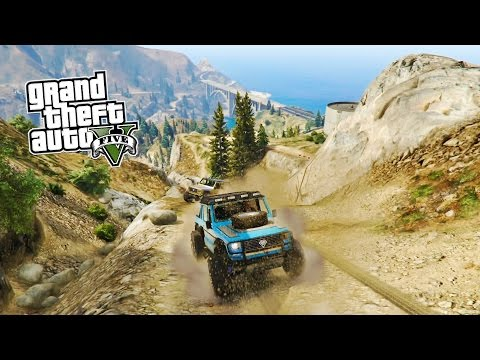 GTA 5 OFF ROADING!!! GTA 4x4 OFFROADING w/ CUSTOM TRUCKS! (Grand Theft Auto 5 PS4 Gameplay)