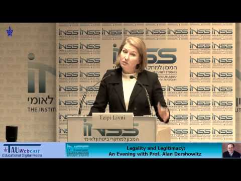 Opening Remarks: Minister of Justice, Tzipi Livni