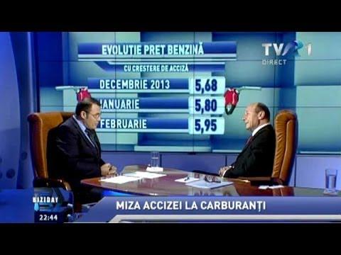 Traian Băsescu în dialog cu Moise Guran, la Biziday, pe TVR1