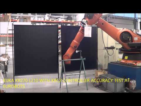 KUKA KR270 WITH KRC2 CONTROLLER ACCURACY TEST AT EUROBOTS
