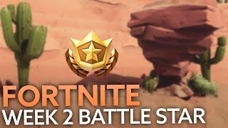 Fortnite search between an oasis, rock archway, and dinosaurs location revealed - Week 2 challenges