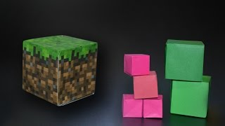 Origami: Cube / Block Minecraft - Instructions in English (BR)