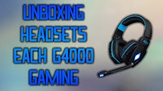 Each G4000 Gaming Headset UNBOXING 2015