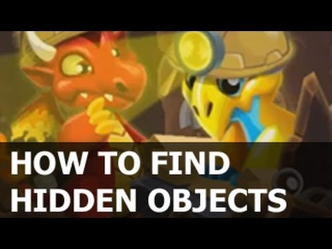 HIDDEN OBJECTS Dragon City Dinosaur ISLAND - How To Find Objects Easy!