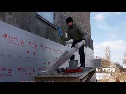 Крепим пеноплекс (Carbon) к стене
