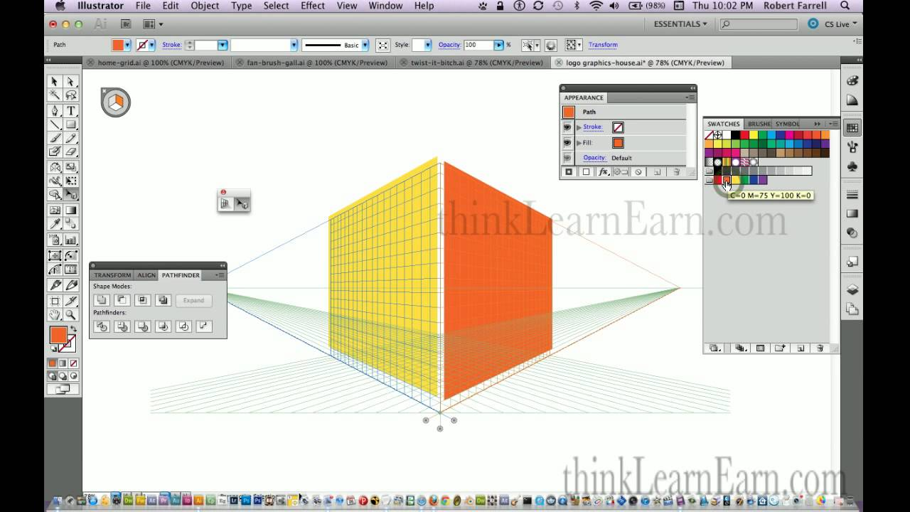adobe illustrator cs6 build a perspective 3d building