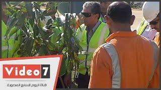 بالفيديو.. وزير البيئة يزرع شجرة باسمه بشركة ﻻفارج للأسمنت بالسويس