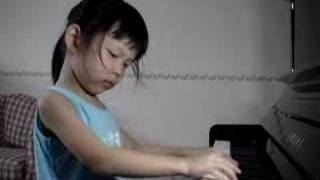 Ethel Poh Practicing At Home (Age 5)