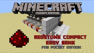 Minecraft Pocket Edition Redstone Bank | Easy Bank Building Tutorial