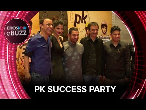 PK Success Party | ErosNow EBuzz | Bollywood News | Aamir Khan, Anushka Sharma, Rajkumar Hirani