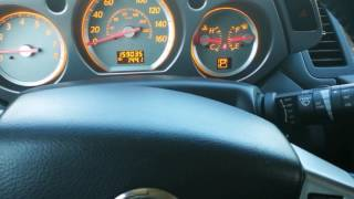 How to reset airbag/turn off Nissan vehicles Air Bag Warning Light (using Murano)