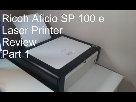 Ricoh Aficio SP 100 e laser printer review