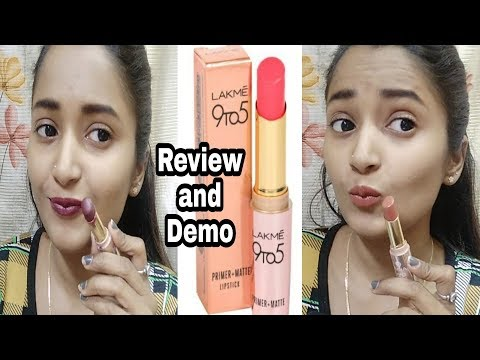 Lakme 9 to 5 Primer + Matte Lipstick Review and Demo / # Style High