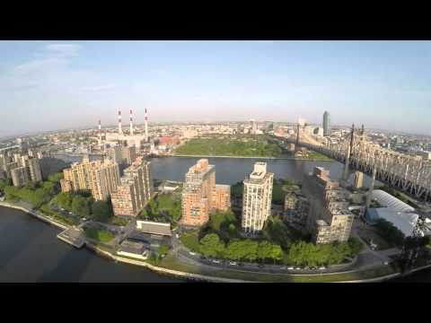 Queens Bridge, New York City from a Drone