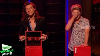 One Direction Plays Tattoo Roulette On 'Late Late Show'