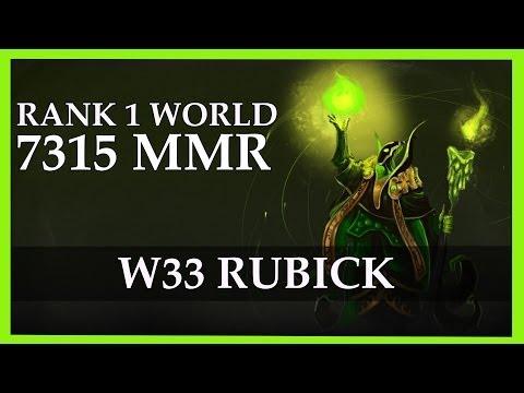 w33 Rubick Gameplay 7315 MMR Rank 1 World   Dota 2 Gameplay