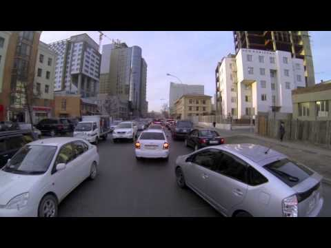 UBean to Grand Khan Irish Pub on BMW650GS-ulaanbaatar traffic & tour-bluesky HiRes