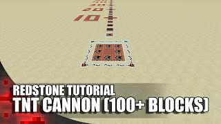Minecraft: TNT Cannon (100+ Blocks)
